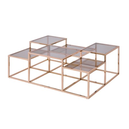 Glass And Metal Coffee Table - CT-09