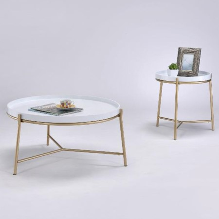 Round Metal Coffee Table - CT-18
