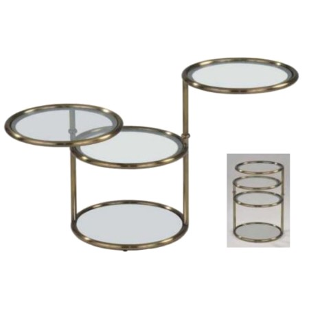 Metal Glass Side Table - ST-03