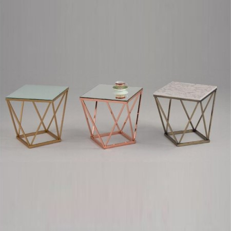 Small Metal Side Table - ST-09