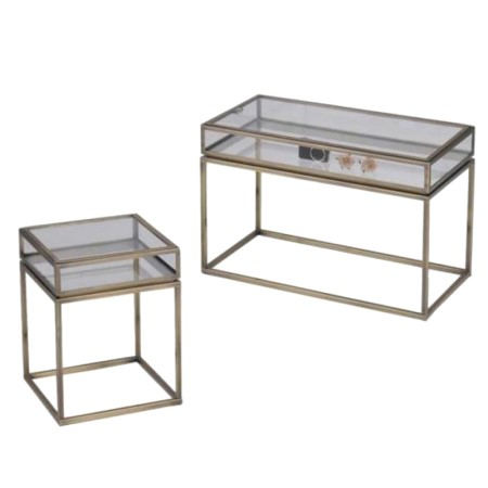 Glas Top Metal sofabord - ST-01