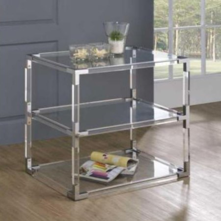 Acrylic End Table - ST-15