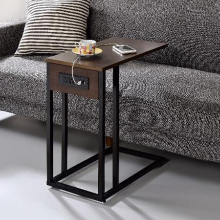 Wood And Metal End Table - ST-19